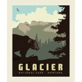 National Parks - Glacier Pillow Panel
