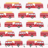 Fire Pups - Fire Truck White Yardage