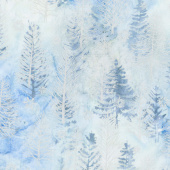 Artisan Batiks - Northwoods 8 Trees Ice Metallic Yardage