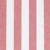 Picnic Point Tea Toweling - Stripe Red Yardage