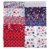 """Red, White and Starry Blue 10"""" Squares"""