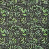 Moody Bloom - Breezy Botanical Black Digitally Printed Yardage