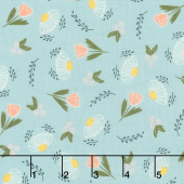Clover Hollow - Flower Daze Sky Yardage