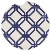 Indigo Patterns Car Coaster - Friendship Chain