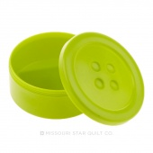 "Lime Button Shaped Storage Box ( 3 1/4"" Diameter)"