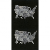 Metropolis - US Map Iron Panel