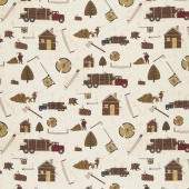 Lumberjack Aaron - Main Cream Yardage