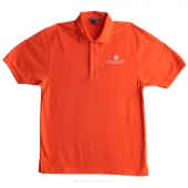 Embroidered MSQC Logo Large Polo - Orange