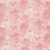 Le Bouquet - Floral Toile Pink Yardage