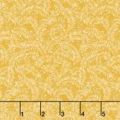 Sunshine Garden - Leaf Dance Yellow Yardage