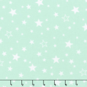 Cozy Cotton Flannels - Mint Stars Seafoam Yardage