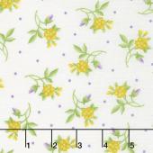 Emma's Garden - Little Flowers Cream Yardage