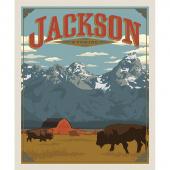 Destinations - Jackson Poster Multi Digitally Printed Panel