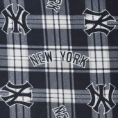 MLB Fleece - New York Yankees Blue/White Yardage
