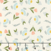 Clover Hollow - Flower Daze Ivory Yardage