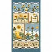 Sunshine Garden - Sunshine Garden Blue Multi Panel