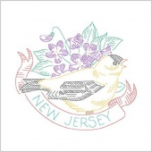 Birds of Liberty - New Jersey Digitally Printed Panel