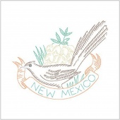 Birds of Liberty - New Mexico Digitally Printed Panel