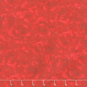 Garden Rose - Packed Shadow Roses Red Yardage