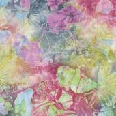 Tonga Batiks - Orchid Ginko Leaf Jewel Yardage