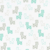 Cozy Cotton Flannels - Mint Giraffes Mint Yardage