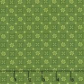 Kimberbell Basics - Dotted Circles Green Tonal Yardage