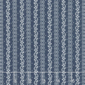 Majestic - Stripe Navy Yardage