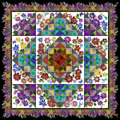 Rainbow of Jewels Block of the Month