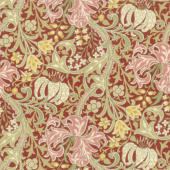 Morris Garden - Golden Lily 1897 Crimson Yardage