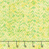 Peacock Galore Batiks - Herringbone Lemon Lime Yardage
