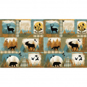 Wild and Free - Lodge Block Collage Multi Panel