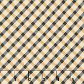 Eliza - Diagonal Plaid Latte Yardage