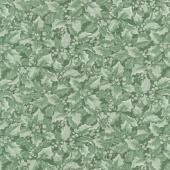 Winter Elegance - Holly Berries Medium Green Yardage