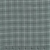 Local Color - Tattersall Charcoal Yarn-Dyed Flannel Yardage
