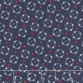 Gretel - Wreath Navy Yardage