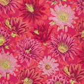 Kaffe Fassett Collective Spring 2019 - Bright Cactus Flower Red Yardage