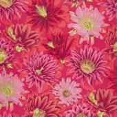 Kaffe Fassett Collective Spring 2019 - Bright Cactus Flower Red Yardage