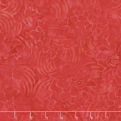 Tonga Batiks - Poppy Shooting Flowers Cherry Yardage