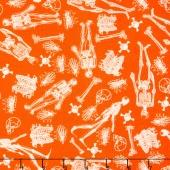 Eek Boo Shriek - Shriek Skeleton Orange Yardage