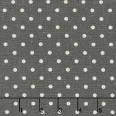 Linen Mochi Dot - Dot Lead Linen Yardage