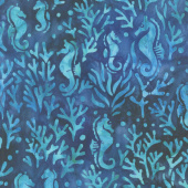 Artisan Batiks - Totally Tropical Seahorse Ocean Yardage