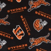 NFL Fleece - Cincinnati Bengals Black Yardage