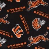 NFL Fleece - Cincinnati Bengals Black Yardage