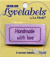 Handmade With Love Iron-On Lovelabels