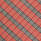 Cabin Welcome Flannel - Plaid Red Yardage