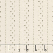 Flower Garden Gatherings Backgrounds - Clover Stripe Tallow Yardage