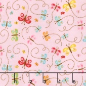 Happy Day - Happy Butterflies Pink Yardage