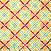 Chatterbox Aprons - Chatterbox Plaid Yellow Yardage