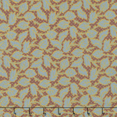 Baltimore House - Wandering Vine Teal Brown Yardage