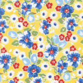 Sugar Sack - Sugar Sack Floral Yellow Yardage